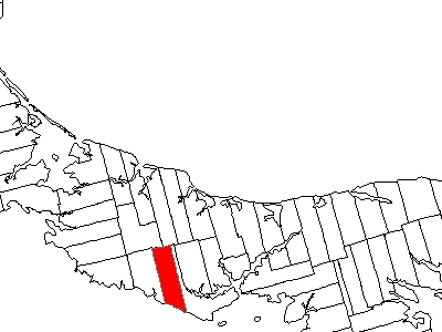 Map Of Prince Edward Island Highlighting Lot 30
