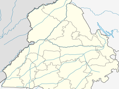 Map Of Punjab Showing Location Of Moga