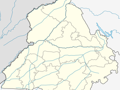 Map Of Punjab Showing Location Of Mullanpur