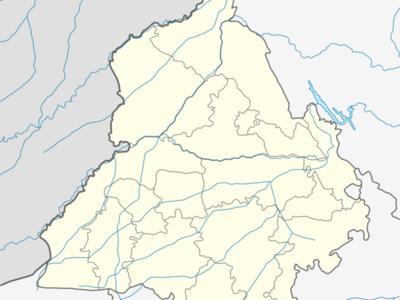Map Of Punjabshowing Location Of Nangakl