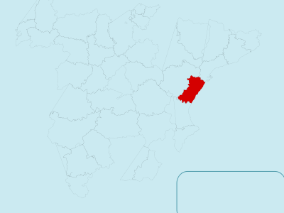 Map Of Spain With Castelln Highlighted