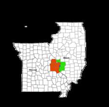 Map Of The St. Louis Metropolitan