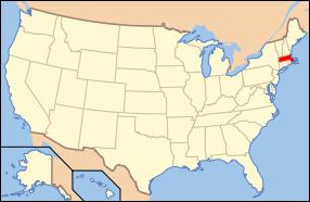 Map Of The U.s. Highlighting Massachusetts