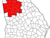 Map Of The Atlanta Metropolitan Area