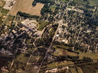 Marion  Indiana   V A  Hospital  From  Above