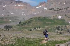 Marion Lake TrailHiker - Grand Tetons - Wyoming - USA