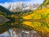 Maroon  Bells  Lake & Peak CO