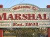 Marshall Welcoming Sign