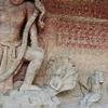 Massive Rock Cut Sculpture Depicting Vishnu In His Varaha Incarn