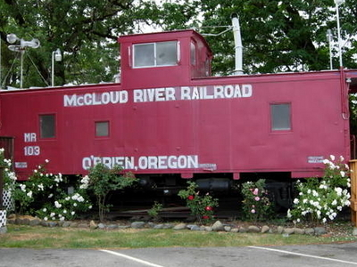 Mc Cloud  River  Railroad  Caboose