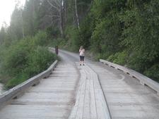 McDonald Creek Trail Bridge - Glacier - Montana - USA