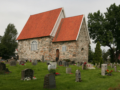 Medieval Stone Church At Frogner