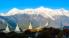 MeiLi Mountain With Deqin Stupas In Forefront