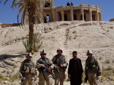 Members Of United States Armed Forces Outside The Citadel Of Ale