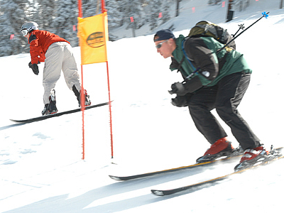 Members Of The US Air Force Skiing At Keystone Resort
