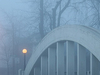 Meridian Arch Bridge In The Fog