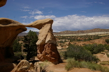 Metate Arch And Straight Cliffs