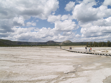 Midway Geyser Basin Trailview