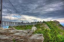 Mile High Swinging Bridge At Grandfather Mountain NC
