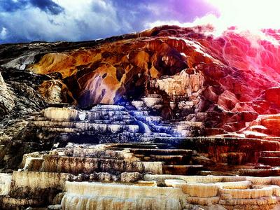Minerva Hot Spring - Yellowstone - USA