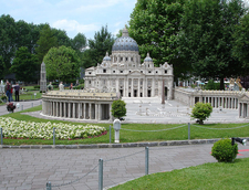 Model Of Saint Peter's Basilica At Minimundus, Klagenfurt