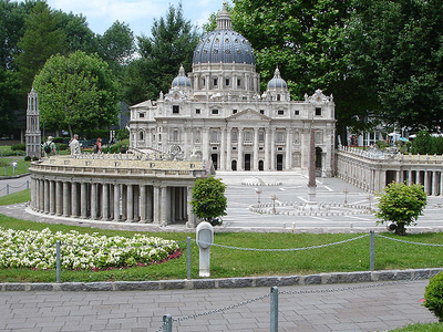 Model Of Saint Peter's Basilica At Minimundus, Klagenfurt