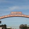 Modesto Arch Including The City Motto
