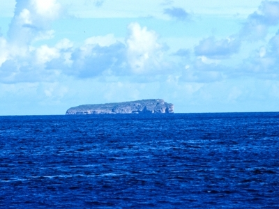 Mona  Island As Seen From Offshore