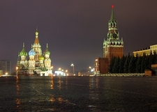 Moscow Red Square By Night