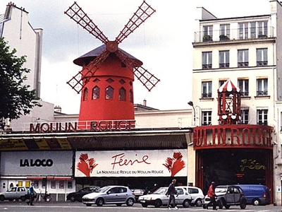 Moulin Rouge Seen From The Place Blanche
