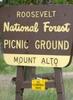 Mount Alto Picnic Area Sign