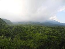 Mount Merapi In Clouds