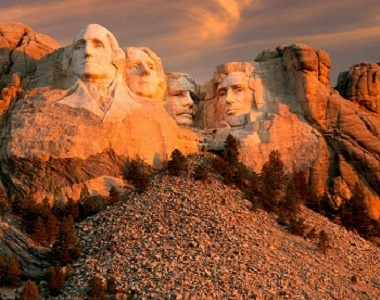 Mount Rushmore National Memorial In The Black Hills SD