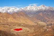 Muktinath With Surrounding Landscape - Nepal Himalayas