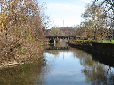 Muskingum  River  Canal At  Zanesville