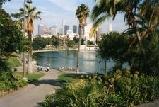 Macarthur Park Looking Towards Downtown Los Angeles