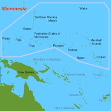 Map Of Micronesia Oceania