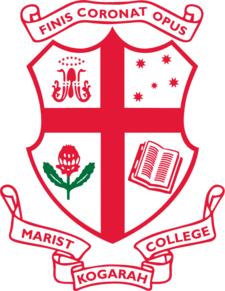 Marist College Kogarah Crest. Source Marist College Website