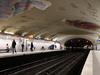 Line 10 Platforms At Cluny - La Sorbonne