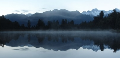 Lake Matheson Shortly Before Sunrise