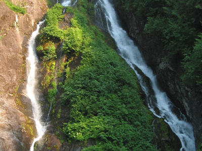 Misty Fjords Waterfall And Kayak
