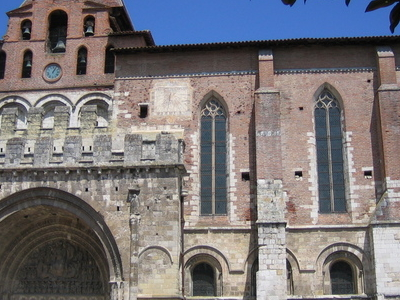 The Romanesque South Door Of The Abbey Church