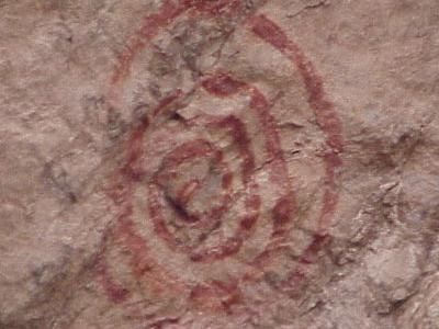 American Indian Rock Art Near Mona