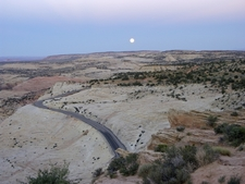 Moonrise Over SR-12 In Grand Staircase-Escalante National Monument