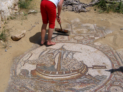 Mosaic Floor Of Byzantine Church