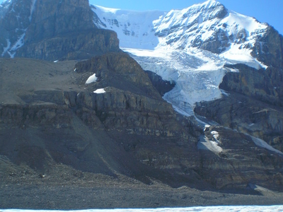 Mount  Andromeda   Athabasca  Glacier