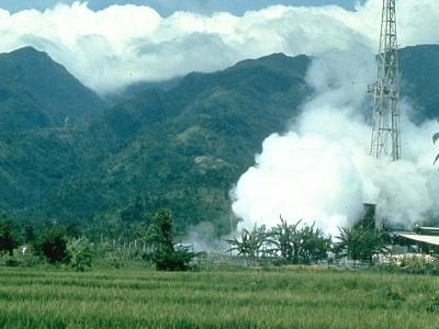 Mount Malinao With Tiwi Geothermal Field