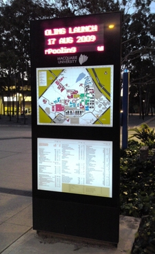 Information Board At Central Courtyard