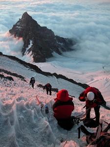 Climbing Ingraham Glacier, Little Tahoma Peak