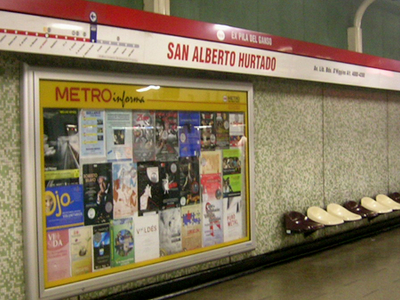 San Alberto Hurtado Metro Station
